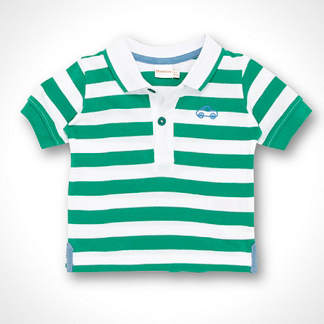 bluezoo - Babies green striped polo shirt
