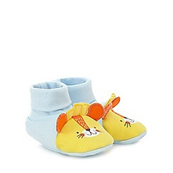 bluezoo - Baby boys' blue lion booties