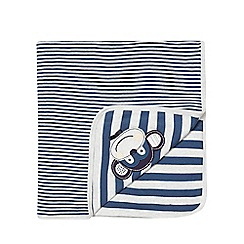 bluezoo - Baby boys' navy monkey applique blanket
