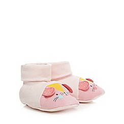 bluezoo - Baby girls' light pink cat booties