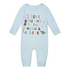 bluezoo - Baby boys' 'I love mummy' print sleepsuit