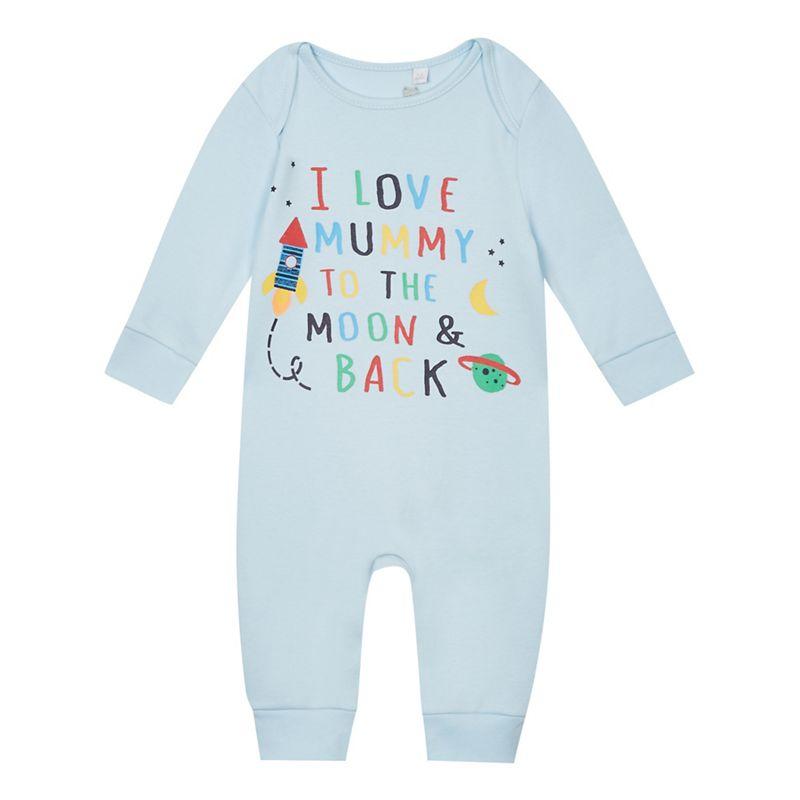 Bluezoo Baby Boys I Love Mummy Print Sleepsuit, Size: 3-6