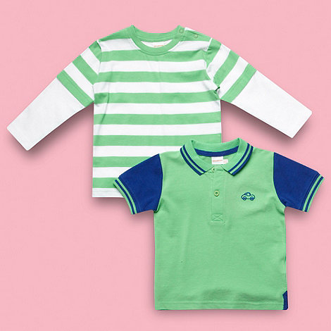 bluezoo - Babies set of two green tops