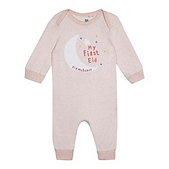 bluezoo - Baby girls' light pink 'my first Eid' bodysuit