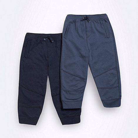 bluezoo - Babies pack of two navy joggers
