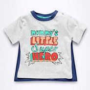 Babies grey detachable caped t-shirt