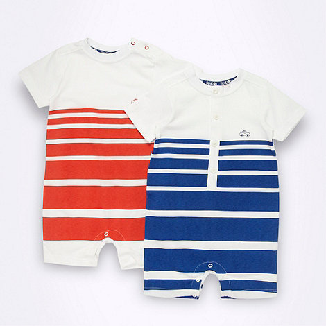 bluezoo - Babies pack of two striped jersey romper suits