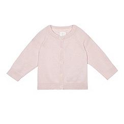 J by Jasper Conran - Baby girls' pink cashmere cardigan