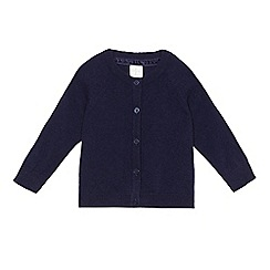 J by Jasper Conran - Baby girls' navy cashmere knit cardigan