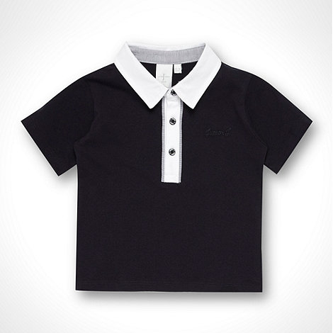 J by Jasper Conran - Designer Babies navy striped trimmed polo shirt