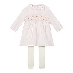 J by Jasper Conran - Baby girls' pink corduroy dress and tights