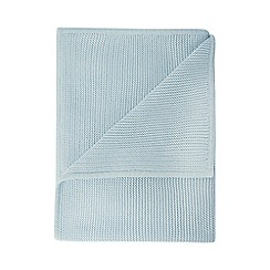 J by Jasper Conran - Babys' light blue stitched blanket