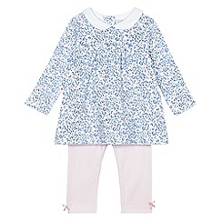 J by Jasper Conran - Baby girls' pink floral print jersey top and leggings set