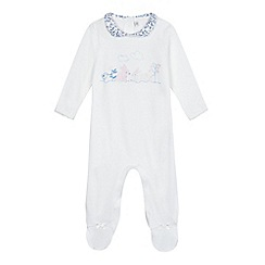 J by Jasper Conran - Baby girls' bunny applique sleepsuit