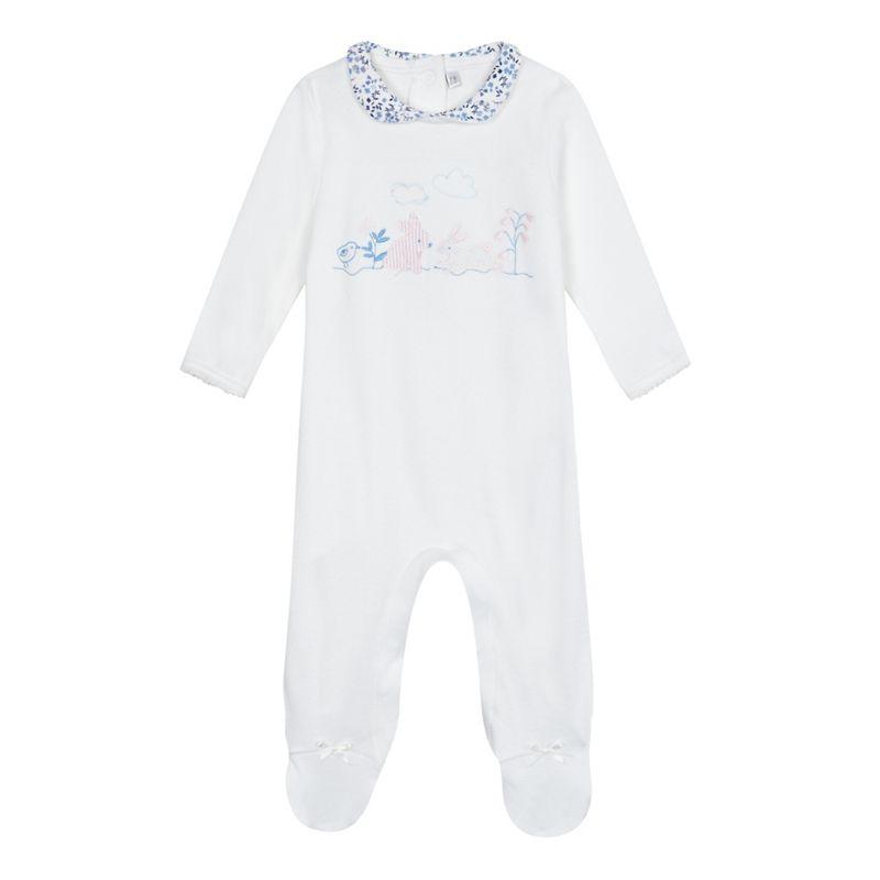 J by Jasper Conran Baby girls bunny applique sleepsuit