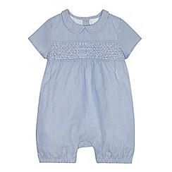 J by Jasper Conran - Babies blue fine striped romper suit