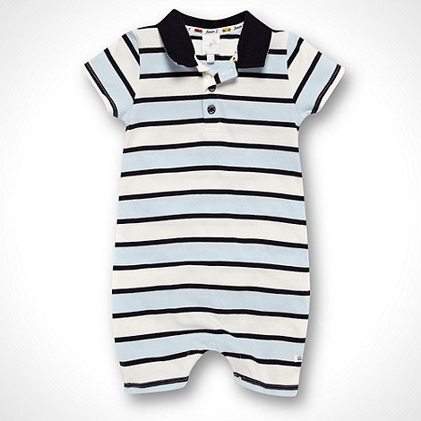 J by Jasper Conran - Designer Babies white striped jersey romper suit