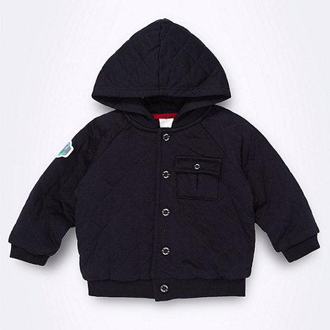 J by Jasper Conran - Designer Babies navy quilted sweat jacket