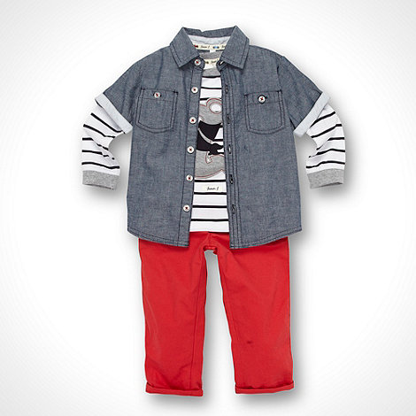 J by Jasper Conran - Designer Babies red shirt, top and trousers set