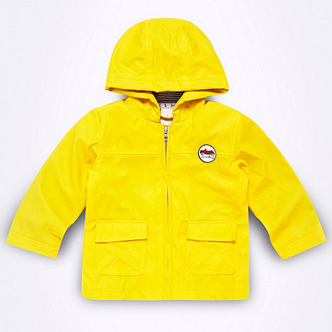 J by Jasper Conran - Designer Babies yellow hooded rain jacket