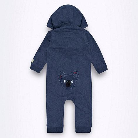 Rocha.John Rocha - Designer Babies dark blue fleece lined zip through romper suit
