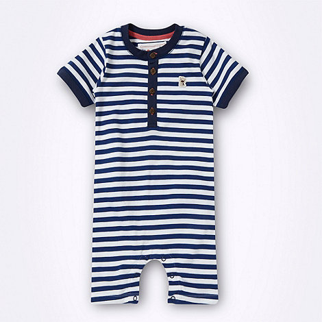 RJR.John Rocha - Designer babies blue striped romper suit