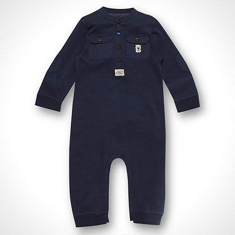 RJR.John Rocha - Designer baby boy+s navy blue baby grow