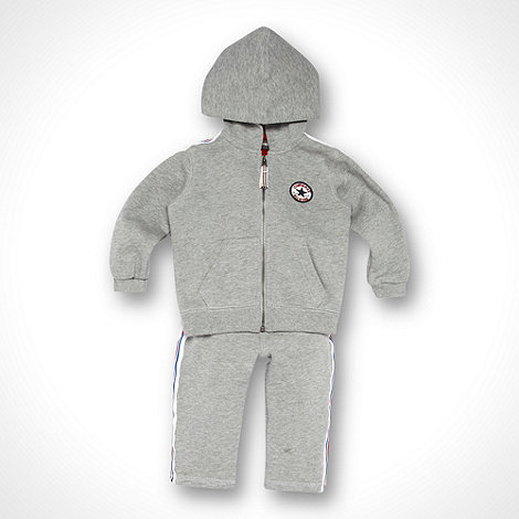 Converse - Babies grey sweat hoodie and jogging bottoms