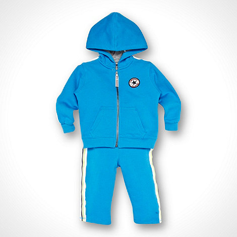 Converse - Babies blue sweat hoodie and jogging bottoms