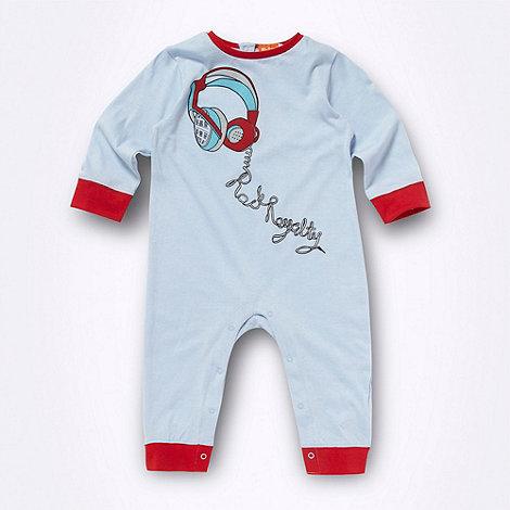Ben Sherman - Babies blue headphones printed sleepsuit