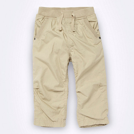 bluezoo - Babies+ beige ribbed waistband relaxed fitting trousers