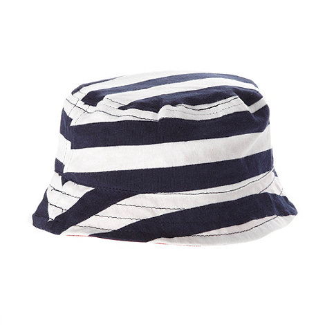 bluezoo - Babies pack of two navy jersey hats