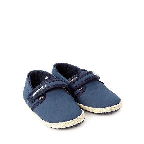 J by Jasper Conran - Designer Babies navy espadrille booties