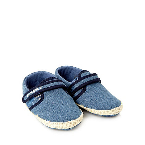 J by Jasper Conran - Designer Babies blue espadrille booties