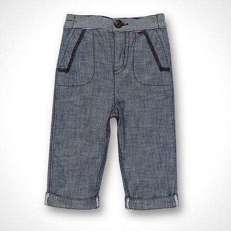 J by Jasper Conran - Designer Babies blue woven trousers