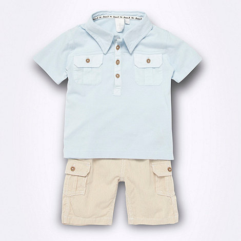 J by Jasper Conran - Designer Babies polo shirt and cord shorts set