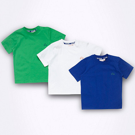bluezoo - Babies pack of three plain t-shirts