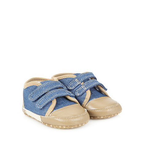 J by Jasper Conran - Designer baby+s blue chambray trainers