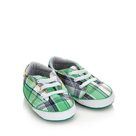 RJR.John Rocha - Designer Babies green checked shoes