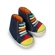 Babies blue denim trainers