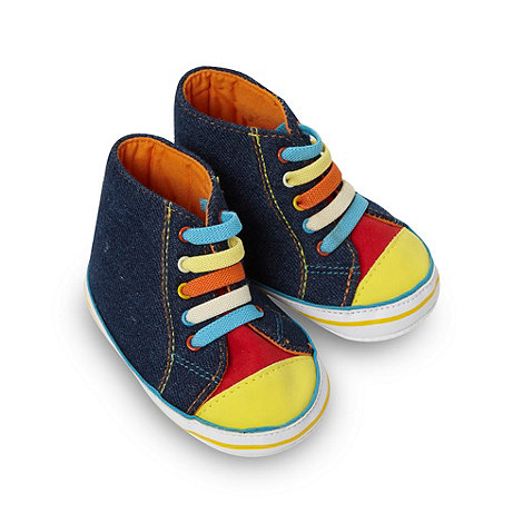 bluezoo - Babies blue denim trainers