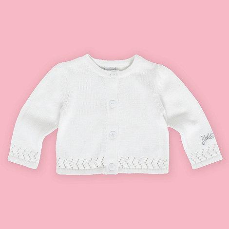 J by Jasper Conran - Designer Babies white crocheted border cardigan