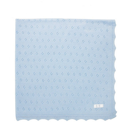 J by Jasper Conran - Designer Babies pale blue knitted blanket