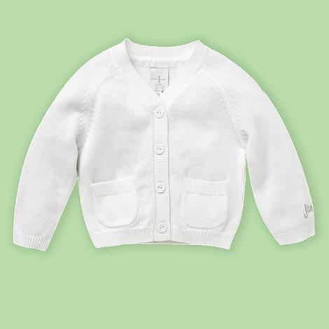 J by Jasper Conran - Designer Babies white cropped cardigan