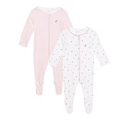J by Jasper Conran - Pack of two baby girls' red patterned sleep suits