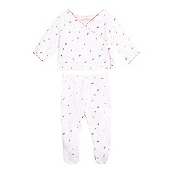 J by Jasper Conran - Baby girls' dotted cherry print quilted top and bottoms set