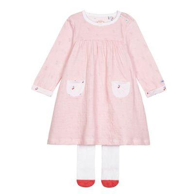 J by Jasper Conran Baby girls' red cherry print jersey dress with socks - . -