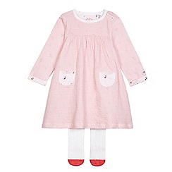 J by Jasper Conran - Baby girls' red cherry print jersey dress with socks