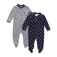 Designer Babies pack of two navy sleep suits