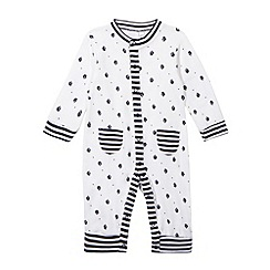 J by Jasper Conran - Designer Babies navy sleep suit and bib set